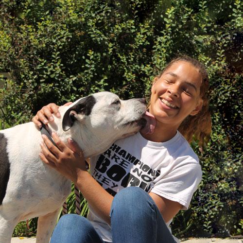 girl with dog - Adopt-A-Pet